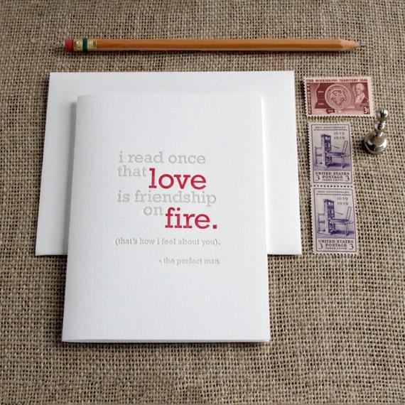 Letterpress 'Love' Card - 4 pack