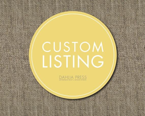 Custom Listing for kellytj14