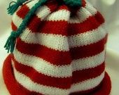 Infant Christmas Rolled Brim Cap New Born