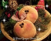 2 Sweet Primitive Gingerbread  Face Ornies-Ornaments-Christmas-Gingers-Hand Crafted OFG TEAM