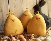 Primitive Chubby Baby Chick Bowl Fillers-Easter-Spring-OFG TEAM