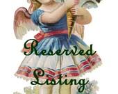 Reserved Listing-Primitive Valentines Keepsake Fabric Box Hearts Vintage prints OFG STLC