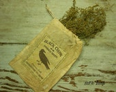 Extreme Primitive Crow -OR- Sheep Ditty Bag Hanger with Sweet Annie grubby Early Look -OFG TEAM