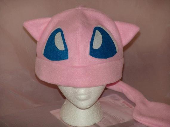 PSYCHIC PINK kitty fleece HAT