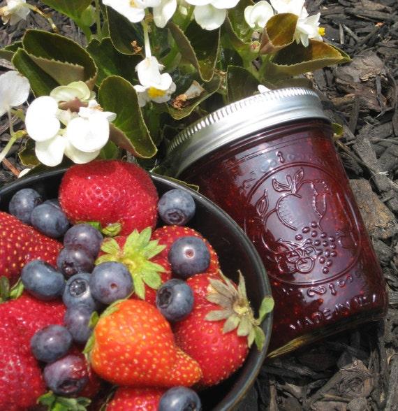 Strawberry Blueberry Organic Jam Preserves LIMITED EDITION 8 oz Jar