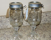 Redneck wine glass, mason jar, pint, wine, wine glass, ready to ship