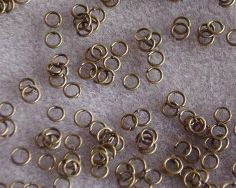 Antique Bronze 5mm Jump Rings Lead Free 614