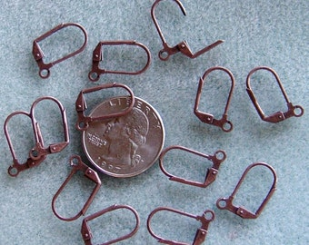 Antique Copper Lever Back Ear Wires Lead Free Nickel Free 704
