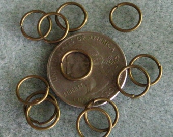 Antique Bronze 10mm Jump Rings 19g 626