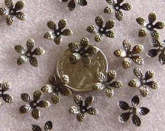 Antique Bronze Daisy Bead Caps Nickel Free 306