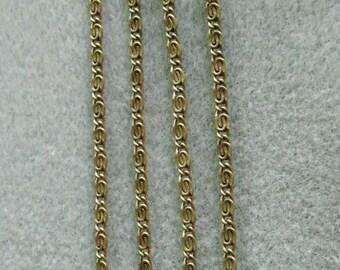 Antique Bronze Myriad Fancy Swirl Chain Small Link Lead Free Nickel Free 362M