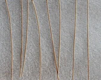 70mm Antique Bronze Headpins  2 3/4 Inch Nickel Free 664
