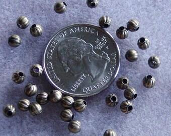 Antique Bronze Pumpkin 4mm Spacer Beads 802