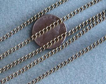 Antique Bronze Brass Twist Curb Chain 4mm x 5mm Nickel and Lead Free 361