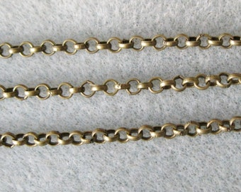 Antique Bronze Rolo Chain 3mm Lead and Nickel Free 355