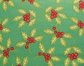 CLEARANCE - 1/3 yd Anna Griffin Mackenzie Green Holly - pattern 28104