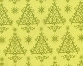 CLEARANCE - 1/3 yard Anna Griffin Trees in Lime - Mackenzie Christmas