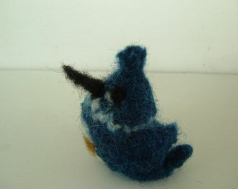 Mini Knit and Felted Kingfisher - Bird Series