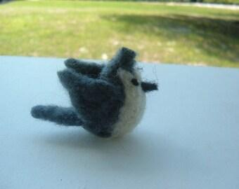 Mini Felted Tufted Titmouse - Bird Series