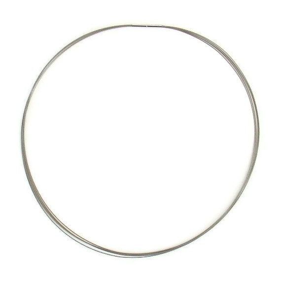 Neckwire Necklace in Silver Colored Stainless Steel