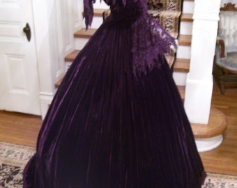 1860's Reproduction  Gone with The Wind  Southern Ball Gown  Designer Debra Cake