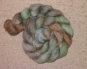 RESERVED--Lori, Green\/Brown\/Grey 80\/20 BFL\/Silk top