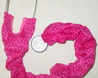 Stethoscope Cover Animal Print Hot Pink Leopard