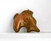 vintage copper fish mold