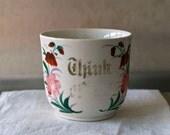 antique porcelain memento cup