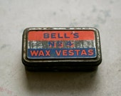 Bell's No. 4 Wax Vestas Match Tin