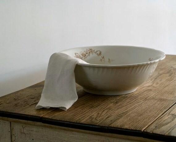 Reserved for Stefanie Antique Villeroy and Boch Porcelain Wash Basin