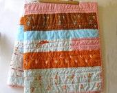 Modern Baby Quilt. Patchwork Heather Ross Mendocino.