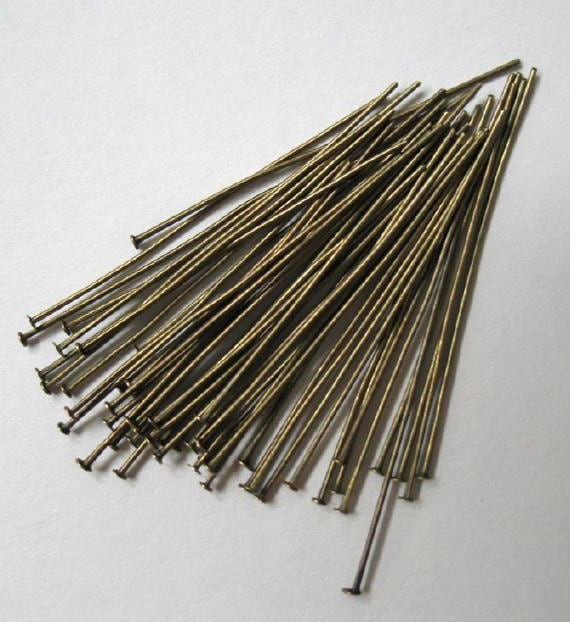 50mm Antique Bronze Head Pins-300 count