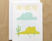 Letterpress Valentine Card // And I Miss You