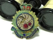 OOAK Steampunk Brooch Pin Airship Captain Royal Costume Vintage Gruen 17 Jewels Exclusive Design By Mystic Pieces