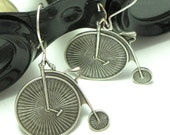Penny Farthing Steampunk Earrings Victorian Bicycle Designed by Mystic Pieces