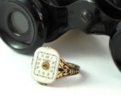 Sweet Steampunk Vintage Watch Face Ring Gear Etched Designed By Mystic Pieces
