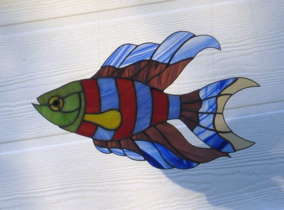 Funky Fish Stained Glass Sun Catcher