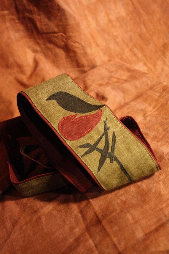 Vegan Ukulele Strap-Nesting Design- reserved for Nefra