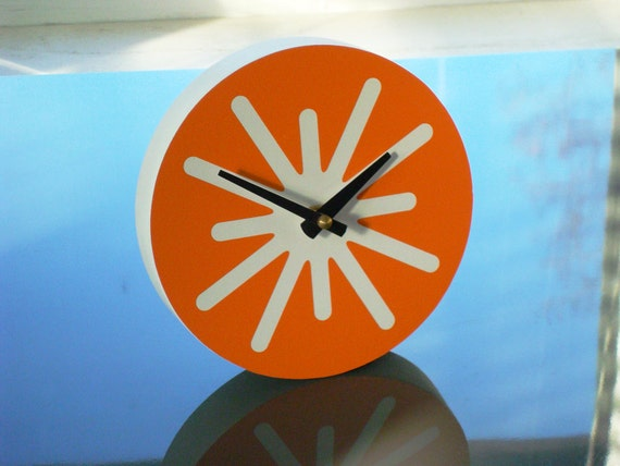 6in Splat Desk Clock