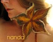 Harvest Dance - Felted Flower Necklace\/Clip