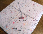 5 sheets of 8.5x11 inch white recycled junkmail handmade paper (letter size)