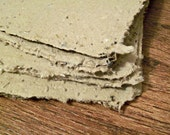90 sheets of brown plantable recycled handmade paper 8.5x11 inch (letter sized) Made to order