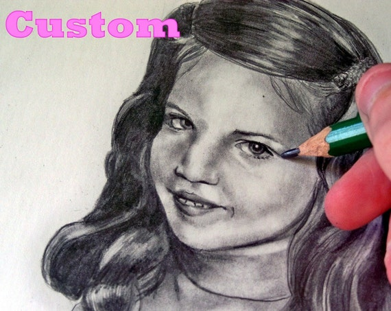 Custom, 8x10, Child, Graphite Drawing, Archival White Paper, Realistic depiction of your child, Photo to Drawing. Great for gifts