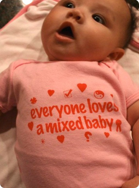 Everyone loves a mixed baby onesie by likemindedpeople on etsy