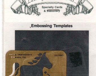 Toy Horse Lasting Impressions Embossing Stencil Template