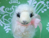 Lola Needle Felted Curly Sheep - In stock-