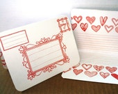 Letterpress Valentines Set of 4