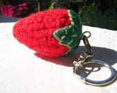 Vegan Strawberry Keychain