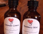 Large 2 oz Bottle of your own CUSTOMIZED Scent of Essential or Fragrance oils with EYE DROPPER